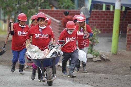 Programa Trabaja Perú ocupa primer lugar en ejecución de presupuesto público.