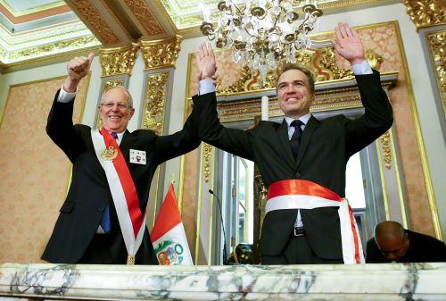 Jorge Nieto y Salvador del Solar juran como nuevos ministros de Defensa y Cultura.Foto: ANDINA/ Prensa Presidencia