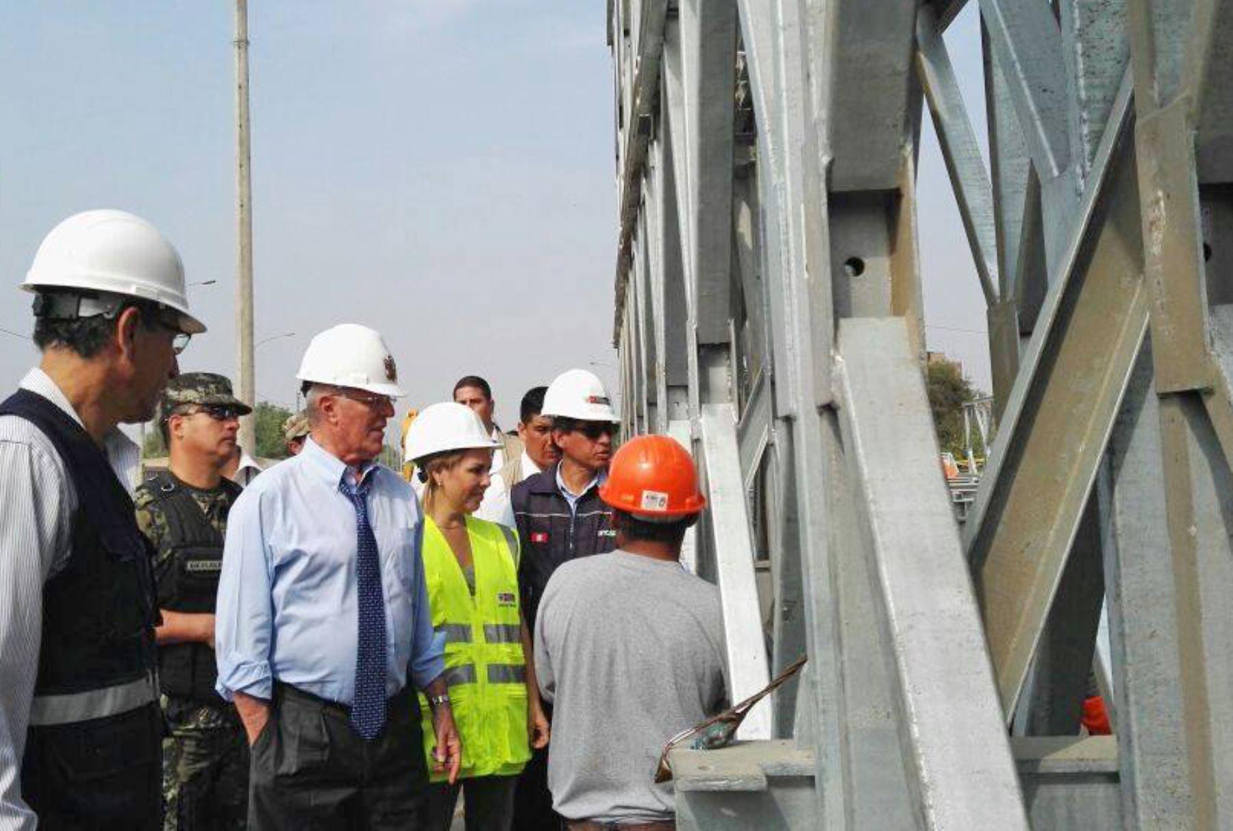 Peru President oversaw flood-hit bridge final replacement works