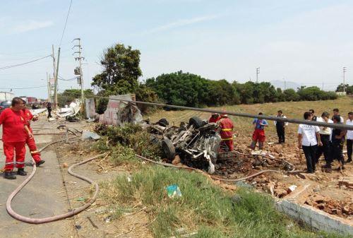 Accidente en Trujillo deja 10 personas fallecidas.