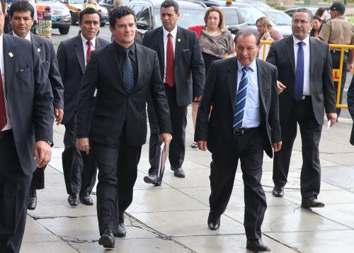 El juez Sergio Moro es considerado por muchos como un emblema de la lucha contra la corrupción en Brasil. ANDINA/Vidal Tarqui