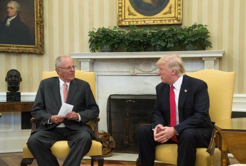 Presidente Kuczynski se reunió con Trump en la Casa Blanca. Foto: AFP
