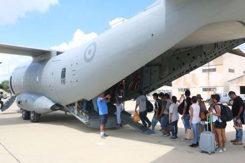 FAP inicia puente aéreo y traslada a pasajeros varados en Piura y Trujillo. ANDINA/Difusión