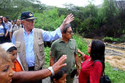 Jefe del Estado, Pedro Pablo Kuczynski, llegó esta tarde a la provincia de Huarmey. Foto: Difusión.