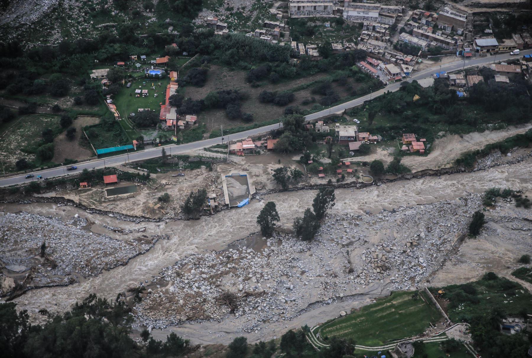 LIMA,PERÚ-MARZO 23.Desborde del río Rímac en Chosica. Foto: ANDINA/Carlos Lezama.