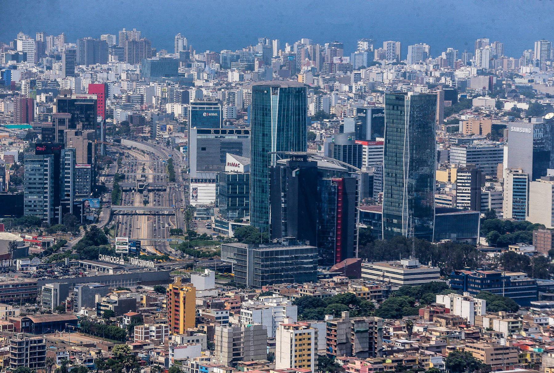 Centro Financiero. Foto: ANDINA/ Carlos Lezama