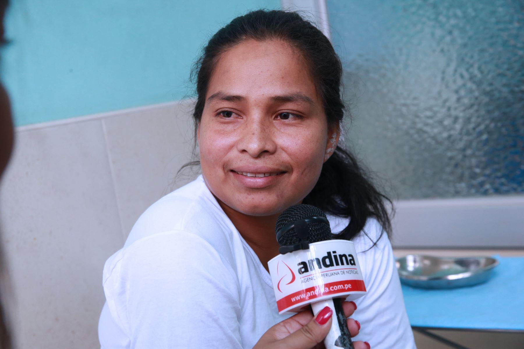 LIMA,PERÚ-MARZO 29.Primera visita medica de Evangelina Chamorro en el hospital Maria Auxiliadora  Foto: ANDINA/Norman Córdova
