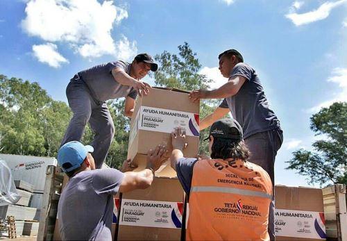 Ayuda humanitaria enviada por Paraguay.