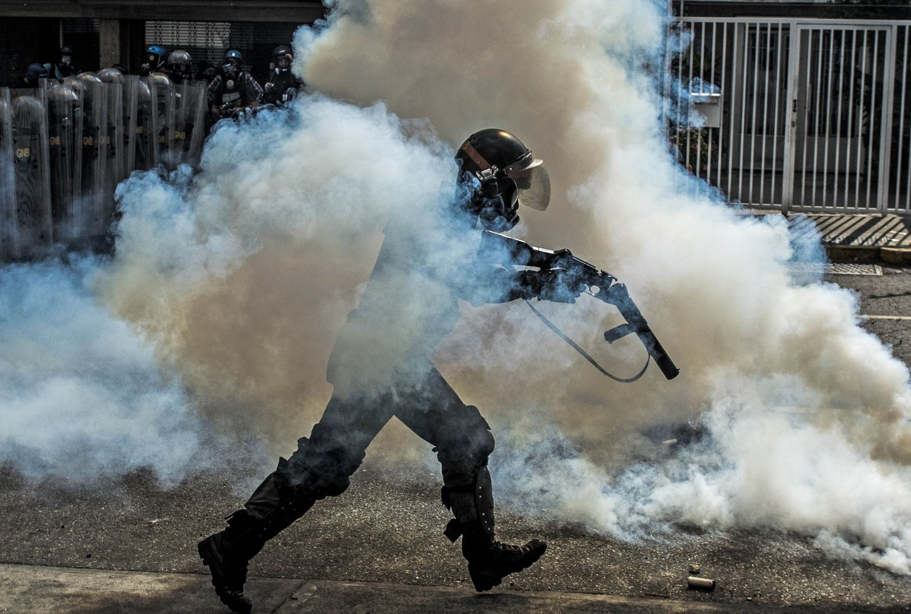 Manifestaciones contra el presidente Nicolás Maduro en Caracas Venezuela. Foto: AFP