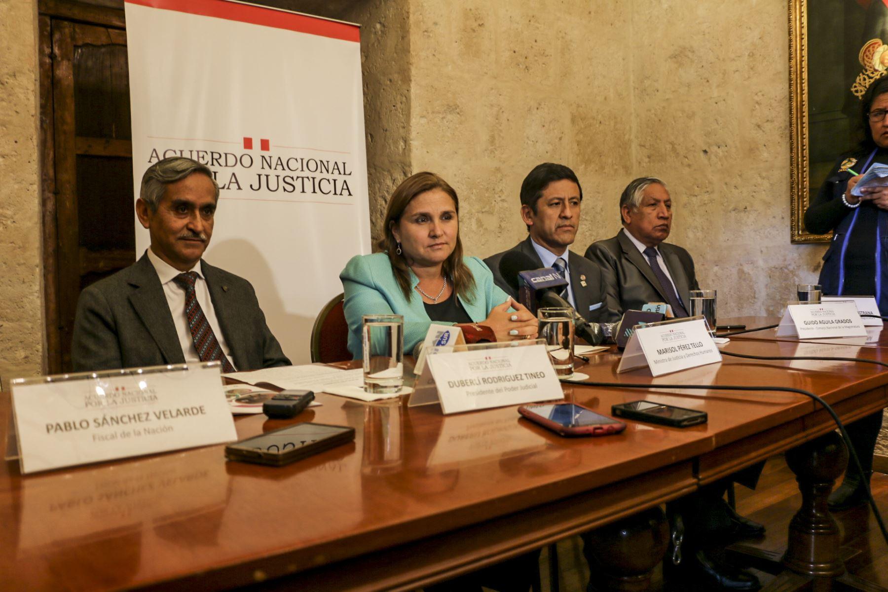 Acuerdo Nacional por la Justicia en Arequipa.