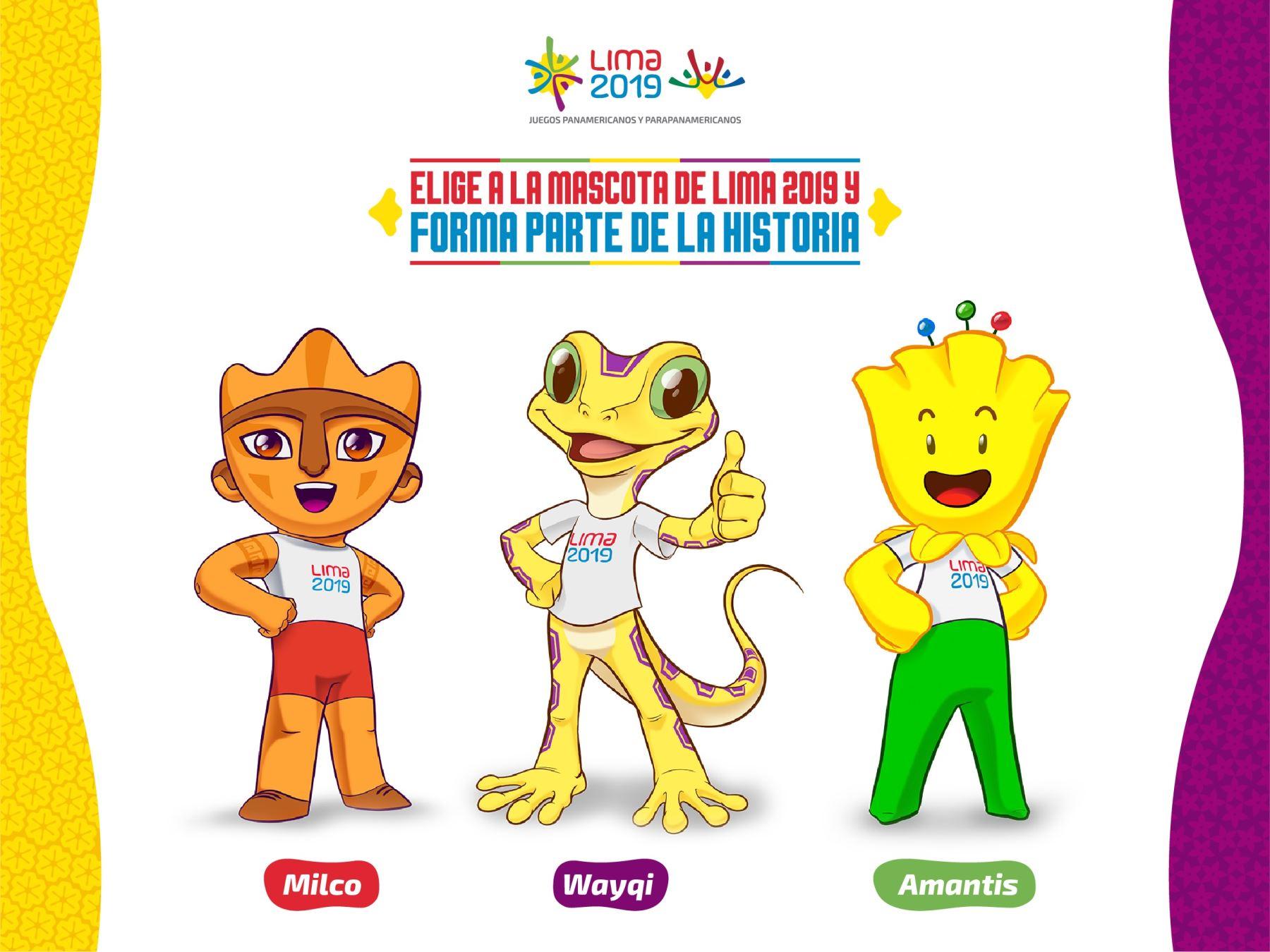 Resultado de imagen para Panamericanos Lima 2019: conoce a los tres diseños finalistas de la mascota