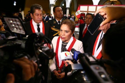 Presidenta del Congreso, Luz Salgado, pide investigar  incendio en Las Malvinas.