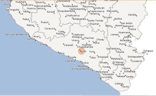 Un sismo de 6 grados de magnitud remeció hoy la provincia de Caravelí, aunque fue sentido en gran parte de la región de Arequipa, informó hoy el Instituto Geofísico del Perú (IGP)