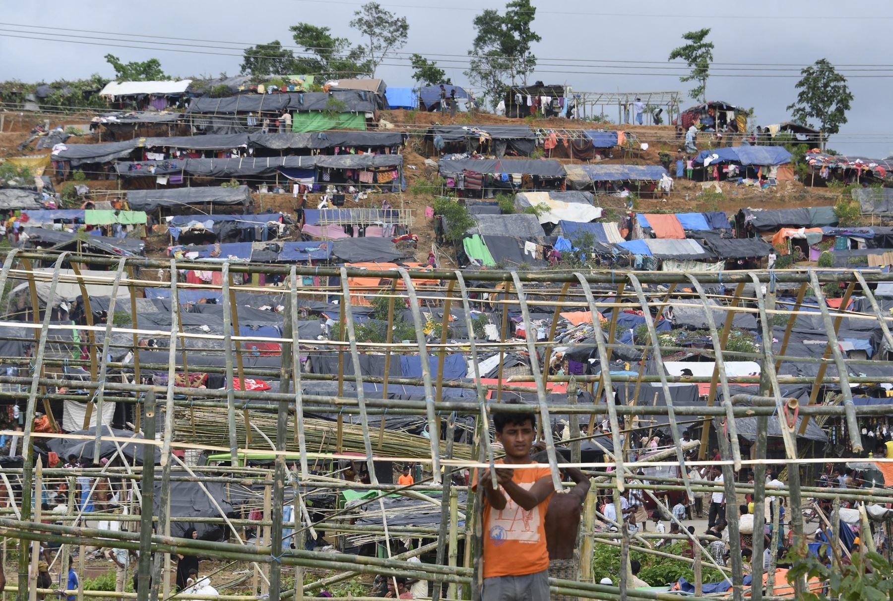 Refugiados rohingyas en Bangladesh. Foto: AFP