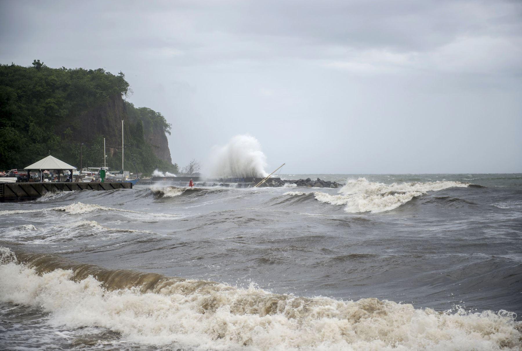 Isla Martinica, después que fue azotado por el huracán María. Foto: AFP