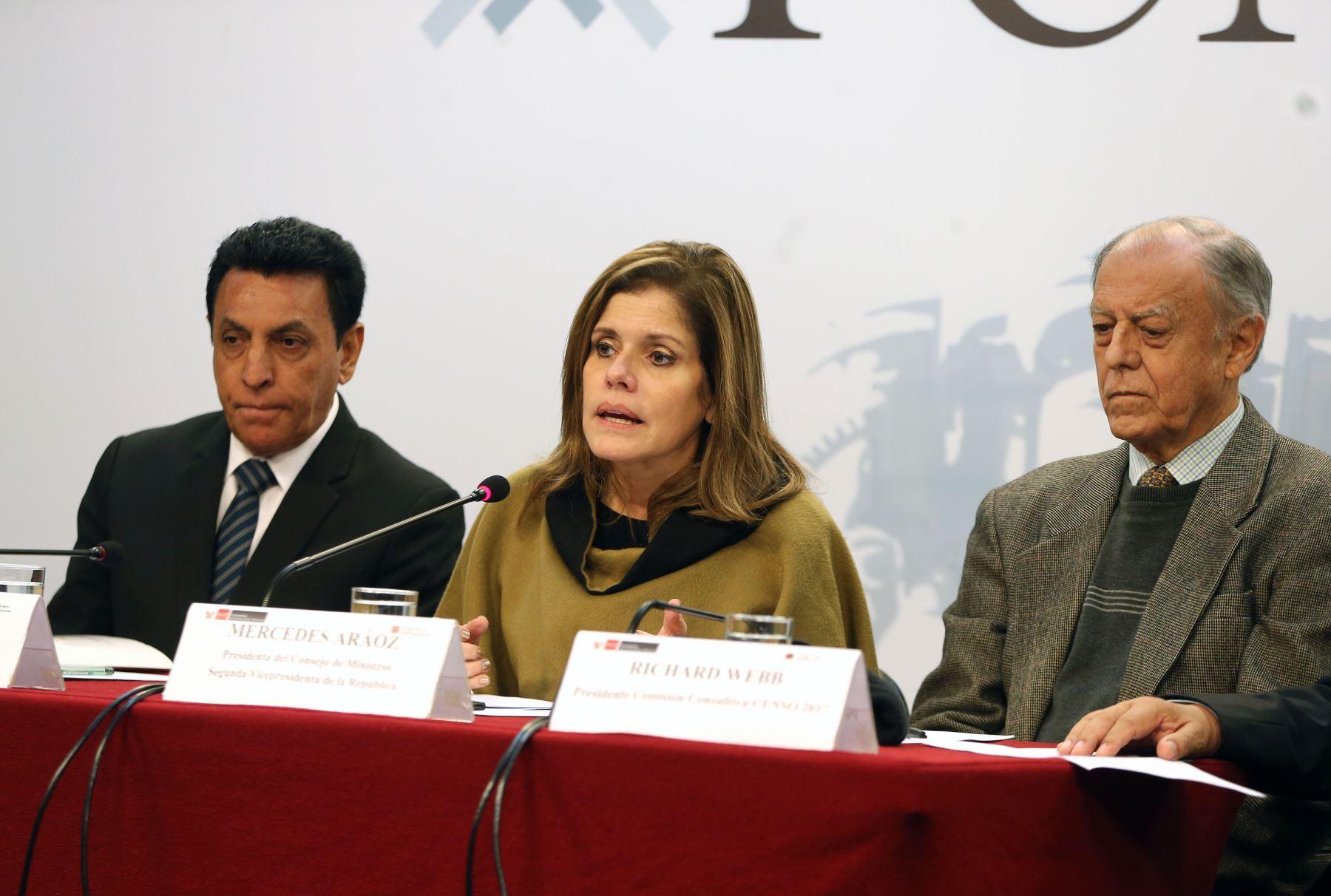 Jefa del Gabinete Ministerial, Mercedes Aráoz. Foto: ANDINA/Vidal Tarqui