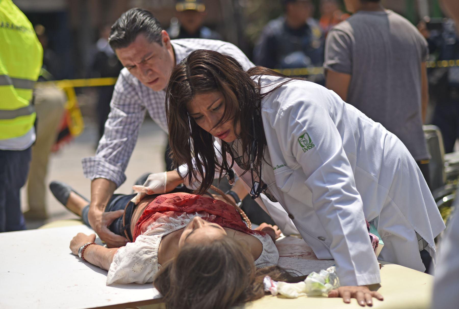 Decenas de muertos en el central Estado de México tras el terremoto de 7,1 grados. Foto: AFP