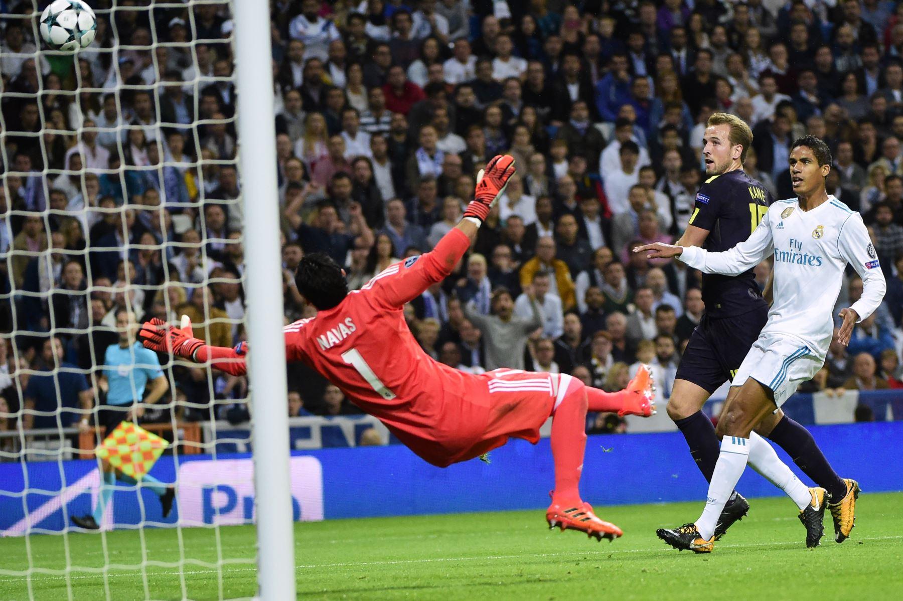 Real Madrid empata 1 a 1 con el Tottenham por la liga de campeones de Europa. Foto: AFP