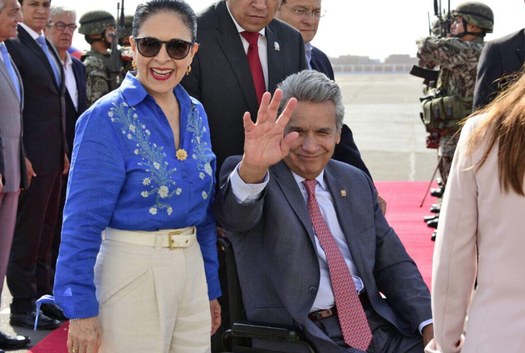 Lenin Moreno llega a Trujillo — XI Gabinete Binacional