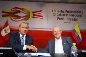 Los jefes de Estado de Perú, Pedro Pablo Kuczynski, y de Ecuador, Lenín Moreno, presiden  en Trujillo, región La Libertad, el XI Gabinete Binacional. Foto: ANDINA/ Prensa Presidencia