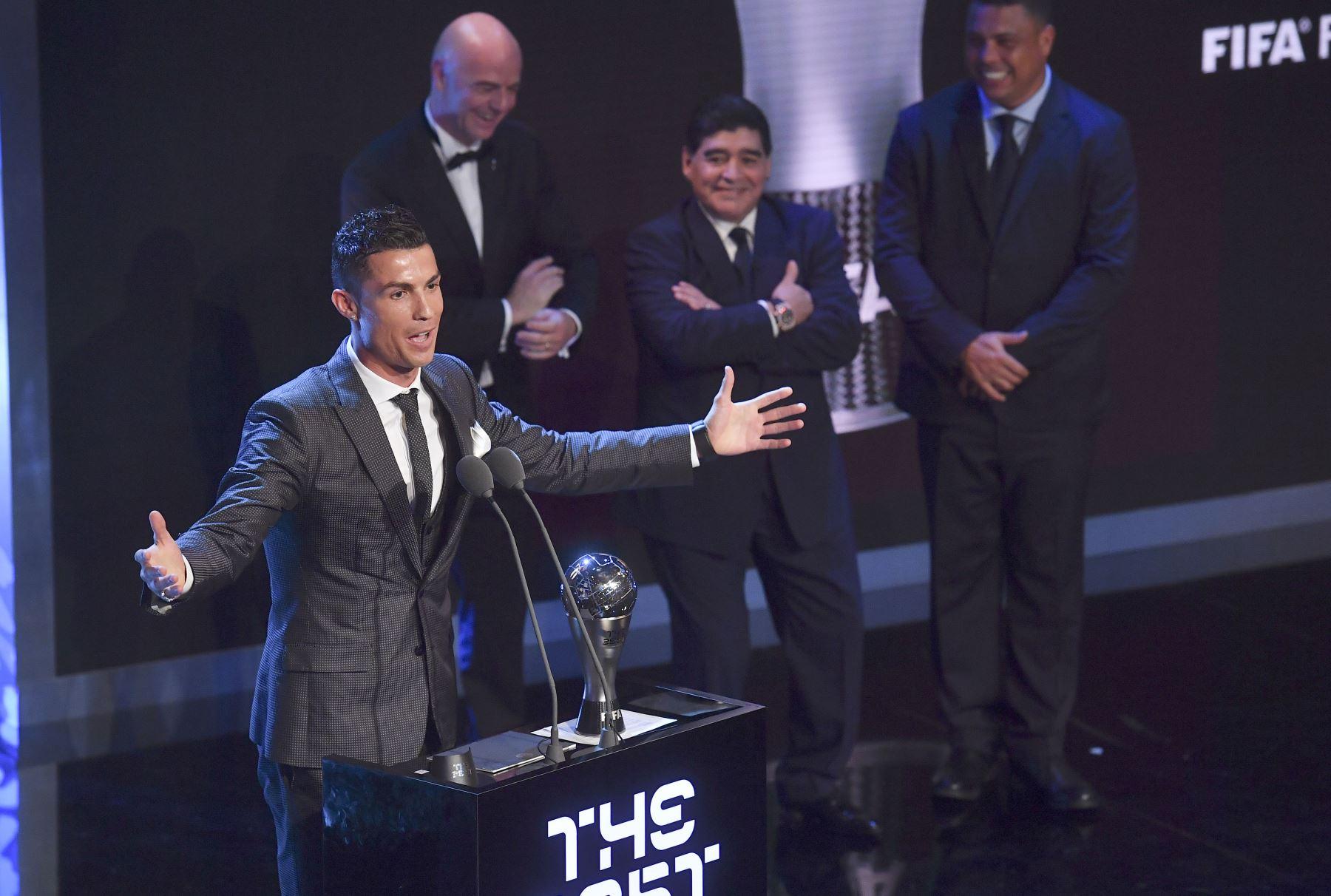 Cristiano Ronaldo, gano el premio al Mejor Jugador de Hombres de la FIFA de 2017 . Foto: AFP