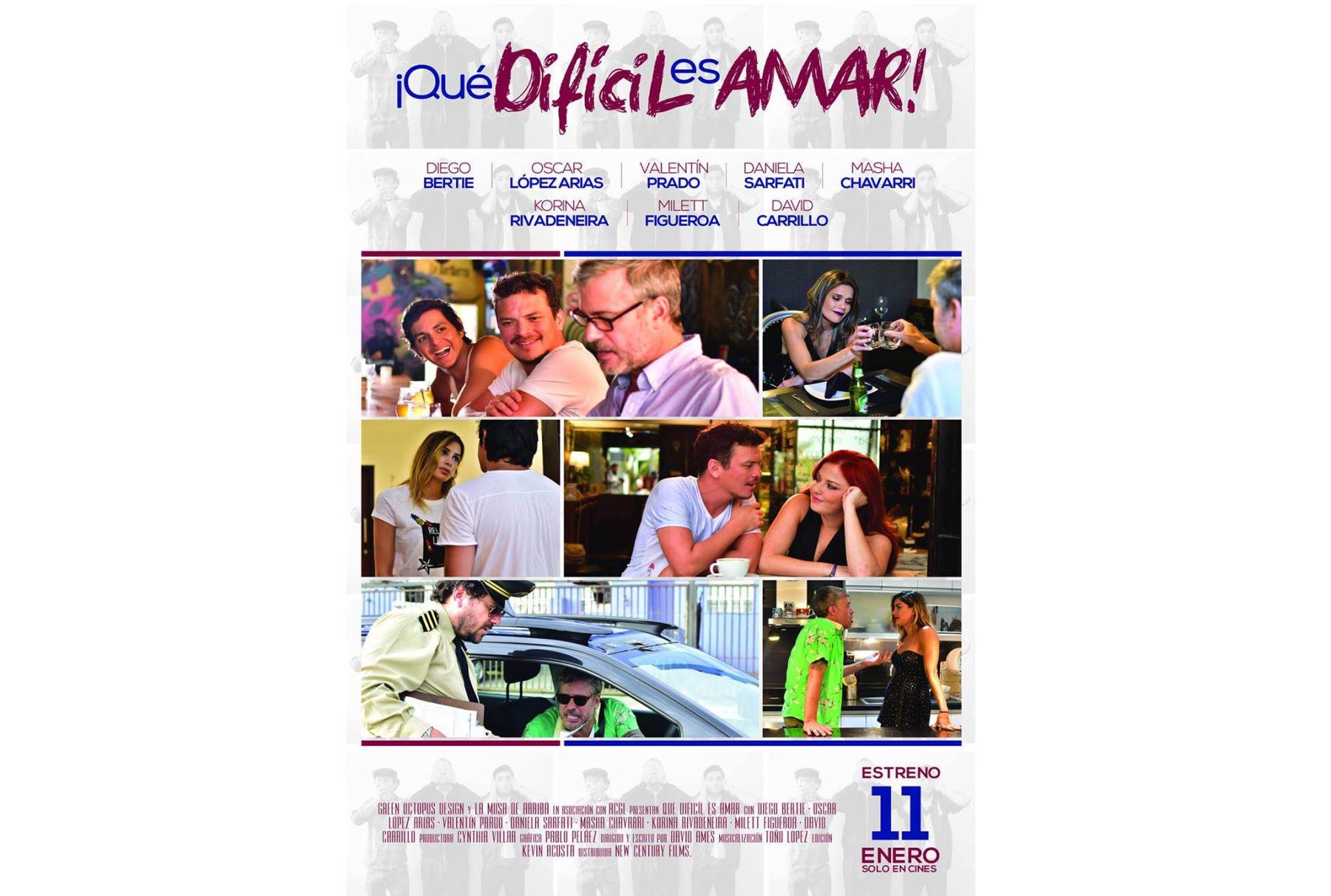 ¡Qué Difícil es Amar!, la película de Diego Bertie estrena trailer