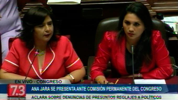 Ana Jara hace su descargo sobre el tema de supuesto reglaje