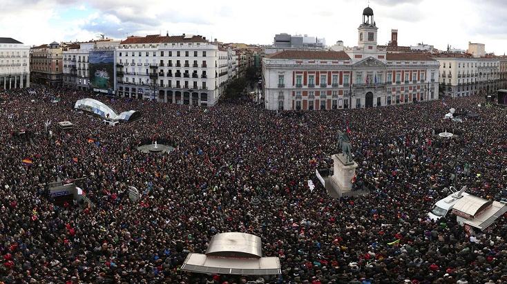 Madrid: miles de españoles salen a las calles para la