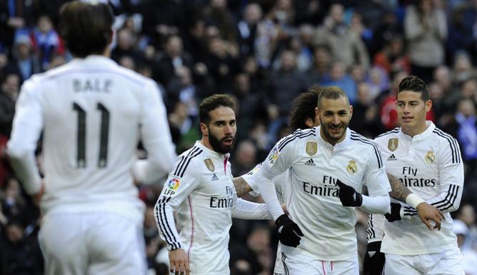 Real Madrid golea y sigue firme en la punta de la liga