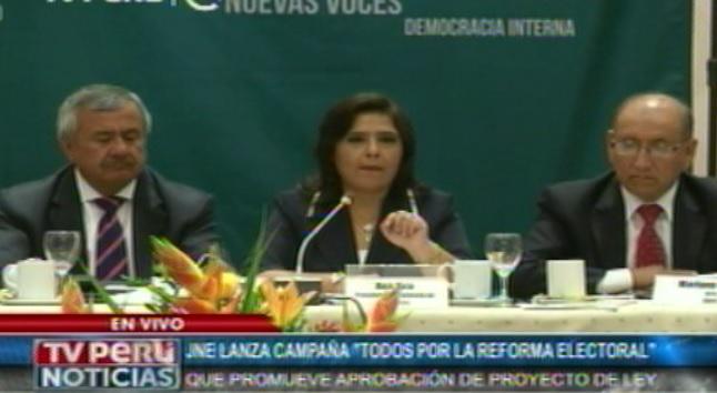 JNE lanza campaña que promueve aprobación de ley de Reforma Electoral