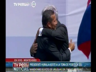 Presidente Humala asiste a toma de mando de presidente electo de Uruguay, Tabaré Vázquez