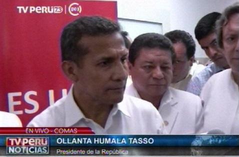 Presidente Humala insta a ser responsables y anteponer los intereses nacionales a los subalternos