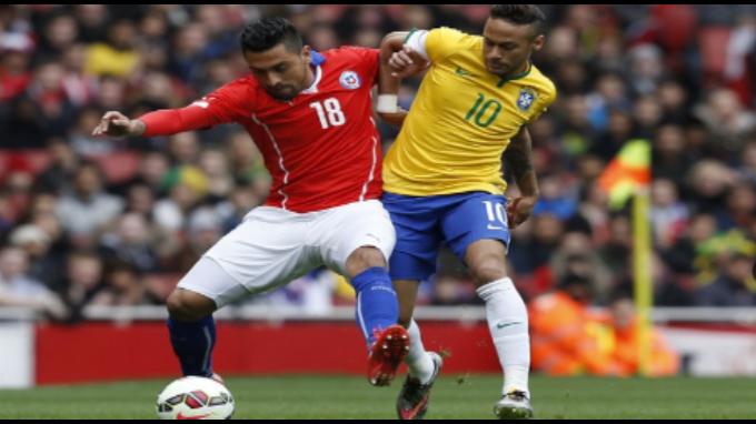 Brasil se impuso a Chile 1-0 en partido amistoso en Londres