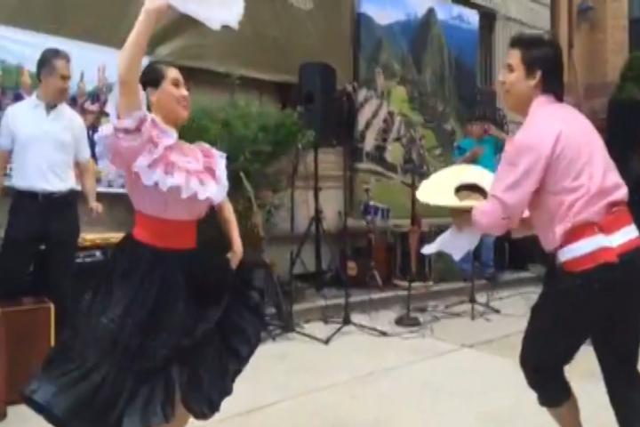 Peruvian Marinera Dancers perform on Passport D.C. Day