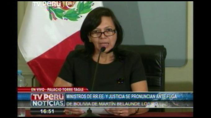 Perú envía comisión especial a Bolivia para apoyar recaptura de Belaunde Lossio