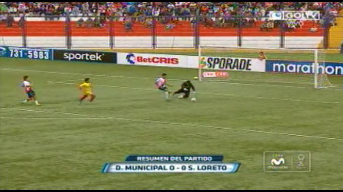 Empate a cero entre Municipal y Sport Loreto