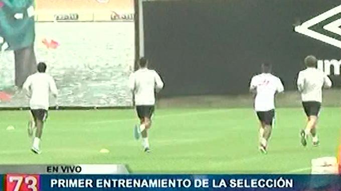 Selección peruana en su primer entrenamiento con Gareca