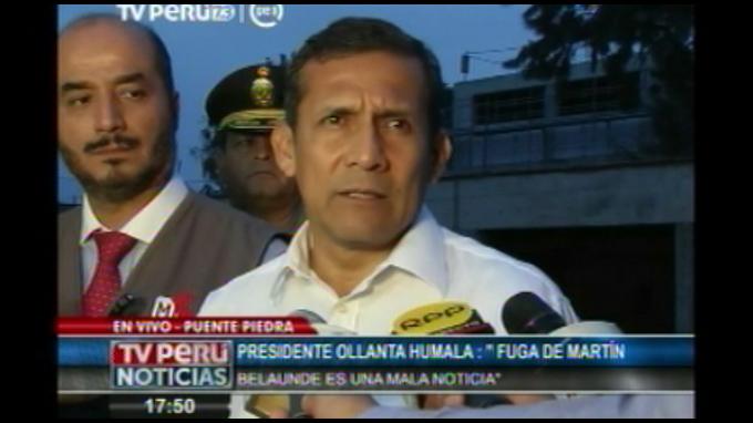 Presidente Humala dispone recompensa para quienes ayuden a ubicar a Belaunde
