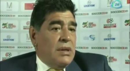 """Maradona:""""Blatter le ha hecho mucho daño al fútbol"""""""