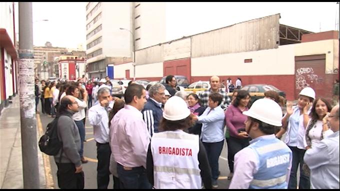Agencia Andina y El Peruano participaron en simulacro