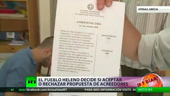 Griegos votan en referéndum sobre propuestas de acreedores financieros