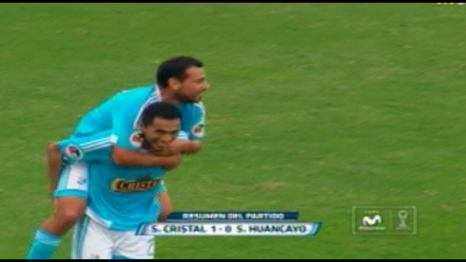 Sporting Cristal derrotó 1-0 a Sport Huancayo con gol 100 de Lobatón
