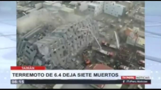 Terremoto en Taiwán causa 11 muertos y más de 400 heridos
