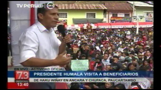 Presidente Humala: creamos más de 30 programas sociales