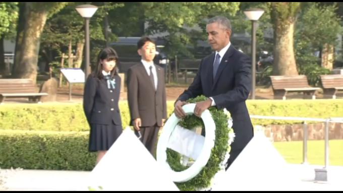 Obama rinde tributo a víctimas de bomba atómica en Hiroshima
