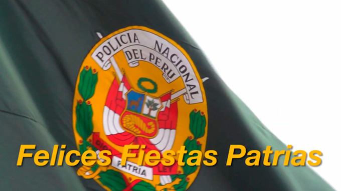 Peru Police wishes Happy National Holidays