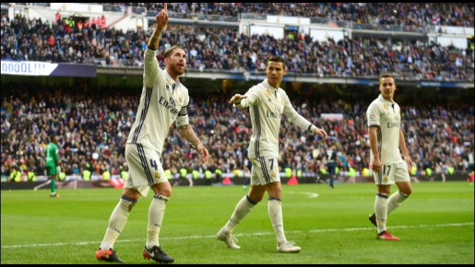 Real Madrid ganó 2-1 al Málaga con doblete de Sergio Ramos