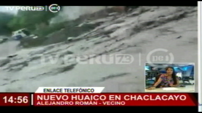 Lo último: Se registra huaico en Chaclacayo