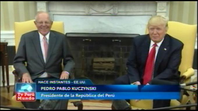 Presidente Kuczynski se reúne con Trump en la Casa Blanca