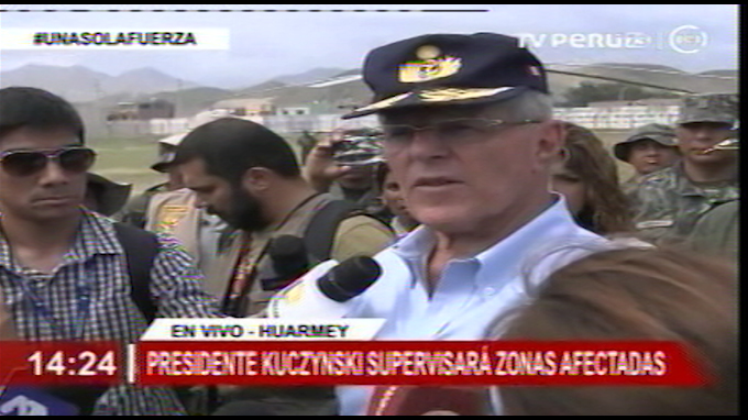 Presidente supervisa en Huarmey zonas afectadas